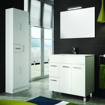 Moderne suspendu meuble salle de bain 600 700 mm Caledonia lavabo en porcelaine série