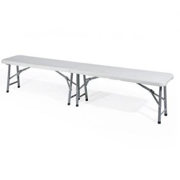 Beer Garden Table Set 2 bancs en bois de plancher mobilier d'extérieur structure fer naturel
