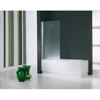 Novellini Pare-baignoire Gala 3V avec un élemént fixe et un porte battante à 90°