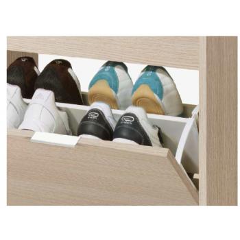 Meuble à chaussures 108 cm chêne clair 2 portes