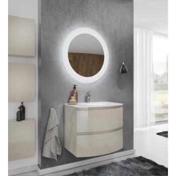 Meuble de salle de bain suspendu 100 cm laqué Blanc Brillant avec Lavabo Atene