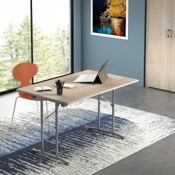 Table 123x80 cm Chêne clair...
