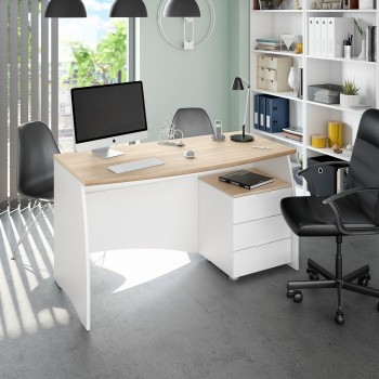Bureau 136x67 cm Blanc mat...