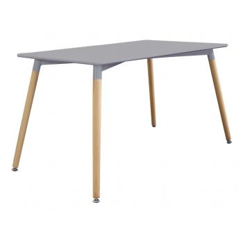 Table 140x80 cm Gris avec...