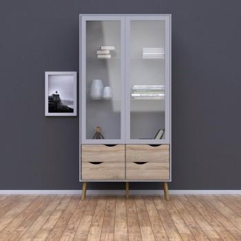 Vitrine salon 200 cm Blanc...