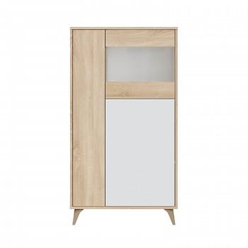 Vitrine salon 142 cm Blanc...