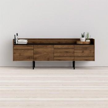 Buffet salon 195x40 cm noir...