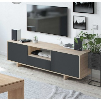 Meuble TV 150 cm avec 3...