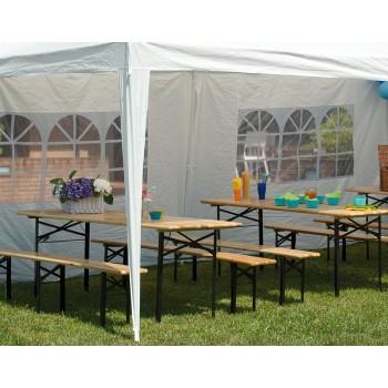 Set birreria 220 cm con un tavolo e due panche